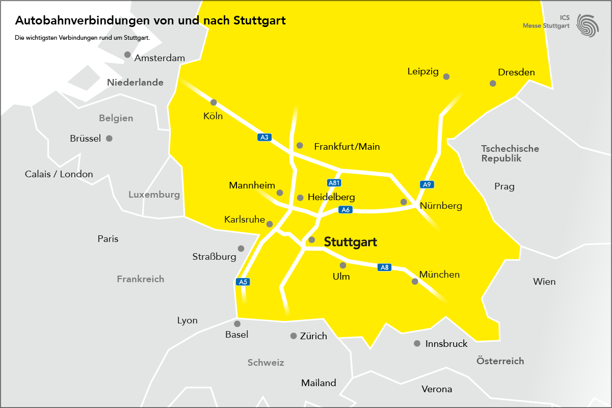 Fahrverbot Stuttgart Karte.Cmt Mit Dem Auto Messe Stuttgart